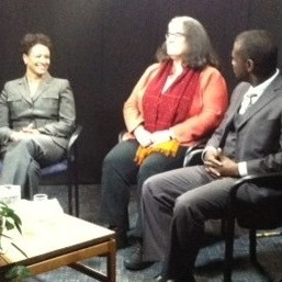 panel members talking in the studio